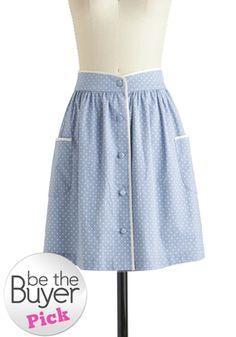 Just as I Dot Skirt, #ModCloth