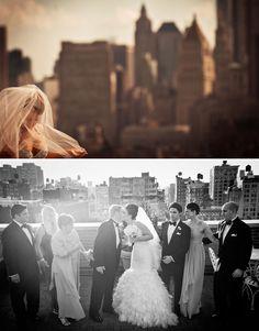 NYC Rooftop Wedding bowery hotel wedding rooftop