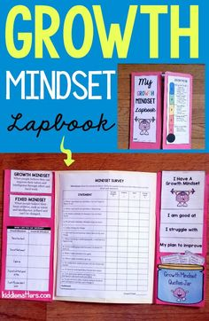 This growth mindset lap book helps kids explore what a growth mindset is through journal prompts, reframing fixed mindset self-talk, and by completing a writing exercise in which they have to evaluate their strenghts and areas for growth.   This resource can be used by parents, counselors, and teachers. #growthmindset #schoolsocialwork #schoolcounseling #positiveparenting Coping Skills Activities, Growth Mindset Activities, Growth Mindset Quotes, Calming Activities, Counseling Activities, Youth Activities, Elementary School Counseling, School Social Work, Elementary Schools