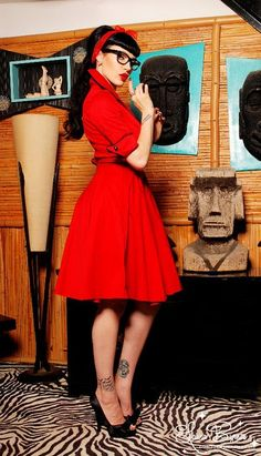 Pinup Fashion: I've had my eye on this dress for a while. Want!