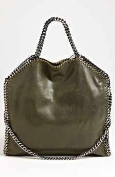 Stella McCartney 'Falabella - Shaggy Deer' Faux Leather Foldover Tote | Nordstrom