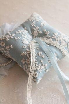 Raindrops and Roses Wedding Ring Cushion, Wedding Pillows, Cushion Ring, Wedding Ring Box, Blue Wedding, Rustic Wedding, Ring Bearer Pillows, Ring Pillows, Raindrops And Roses