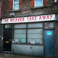 The Weaver Take Away, Weaver Square - Dublin Ghost Signs