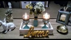 DIY Dollar Tree Candle Holders and Flowers Vase