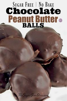 The recipe for Sugar Free Chocolate Covered Peanut Butter Balls YUMMY! Sugar Free and No Bake! Sugar Free Deserts, Sugar Free Sweets, Sugar Free Cookies, Sugar Free Recipes, Candy Recipes, Fudge Recipes, No Sugar Desserts, Cookies Kids, Fruit Recipes