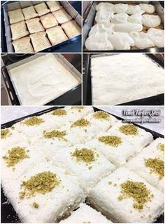 Labneli Etimek Tatlısı Tarifi Cookie Recipes, Dessert Recipes, Delicious Desserts, Yummy Food, Turkish Sweets, Pastry Cake, Turkish Recipes, Frozen Yogurt, No Cook Meals