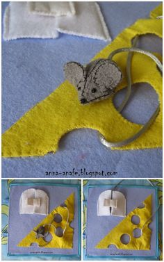 Mouse and cheese quiet book page