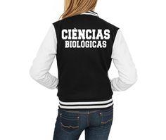 abbcf03083 Jaqueta College Feminina Universitária Faculdade Ciências Biológicas Colegial  Moletom Blusas de Frio Casaco Personalizadas Customizadas Moleton Uniformes  ...