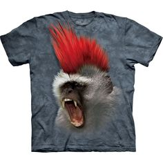 Monkey With a Punky Mohawk T-Shirt