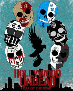 I created this for Hollywood Undead's Design contest on CreativeAllies.com. Repin for days!