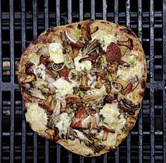 Magic Mushroom Medley Grilled Pizza