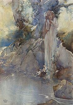 William Russell Flint - A Water Nymph