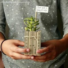9 Kid-Friendly Gifts to Make for Teacher's Back to School: Ruler Succulent Planter