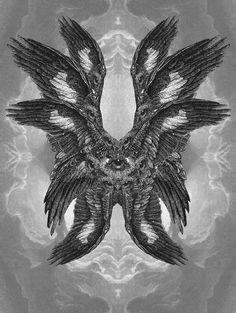 ~many waters~ Seraphim II / Dan Hillier / Sacred Geometry Dan Hillier, Seraph Angel, Plakat Design, Arte Obscura, Occult Art, Illustration Art, Illustrations, Biblical Art, Mystique