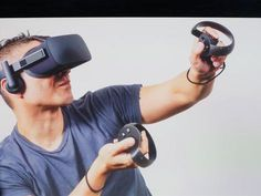 In the battle of the big virtual reality headsets, the Vive is still slightly ahead of Oculus, thanks partly to the former's excellent controllers. Right now, the Rift still relies on a Xbox One gamepad, its own Oculus Touch controllers… Best Virtual Reality, Virtual Reality Headset, Augmented Reality, Reality Apps, Reality Check, Vr Headset, Nintendo, Xbox One, Palmer Luckey