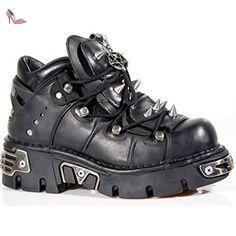 New Rock Boots Unisexe Botte - Style 110 S1 Noir 48 EU - Chaussures new rock (*Partner-Link)
