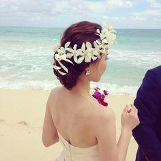 Today's wedding!  ##hawaii#hawaiianwedding #wedding #bridal#Bouquet #makeupartist #bilino #ハワイ#ハワイウェディング#ハワイウエディング#ウェディング#ウエディング#ブライダル#ヘアーメイク#ブライダルヘアメイク#ビリーノ