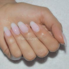 """Almond natural gel nails for beautiful @anniejaffrey  #notpolish"""