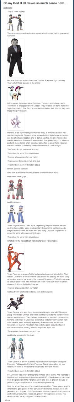 real truth behind Team Rocket The real truth behind Team Rocket.welp, looks like i helped the apocalypse almost happen thenThe real truth behind Team Rocket.welp, looks like i helped the apocalypse almost happen then Pokemon Go, Pokemon Funny, Pokemon Memes, Pokemon Theory, Pokemon Comics, Pokemon Cards, Jesse Pokemon, Pokemon Stuff, Pokemon Fusion