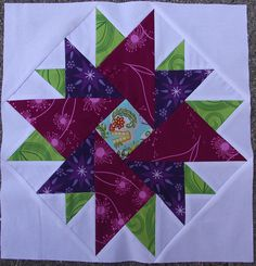 variation of star block, beautiful