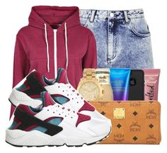 """""""."""" by ray-royals ❤ liked on Polyvore featuring Topshop, Boohoo and NIKE"""