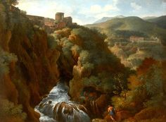 View of Tivoli, Italy, with the Temple of the Sibyl  Gaspard Dughet