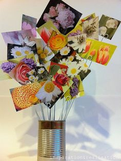 inspiration and realisation: DIY Fashion - DIY Home: flowers for the black thumb Fun Crafts, Diy And Crafts, Arts And Crafts, Craft Projects, Projects To Try, Craft Ideas, Decor Ideas, Photo Bouquet, Boquet