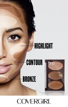 Contour your face in 60 seconds! Follow COVERGIRL'S step-by-step tutorial using our truBLEND Contouring Palette and learn to highlight, contour and bronze your face.   Highlight: Apply to center of forehead, down center of nose, on top of cheekbones and center of chin.  Contour: Suck in cheeks and apply under cheekbones, hit temples and bring around the jawline and outline the sides of your nose.   Bronze: Use on top of forehead, down sides of face, top of cheekbones and a bit on top of…
