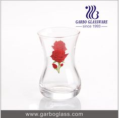 Machine blowing glass tumbler for drinking water with printing and decals logo!!!