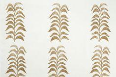 Heather Chadduck Textiles  Grande Frond - Caramel