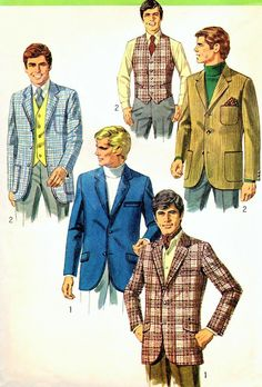 60s Mens Classic Sports Jacket or Formal by WEAREVINTAGESEWING, $12.00