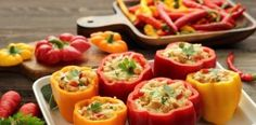 Healthy Eating: Best and Worst Italian Dishes for Your Health Top 10 Italian Dishes, Italian Recipes, Baked Peppers, Vitamin C Foods, Stuffed Peppers Healthy, Us Foods, Easy Meals, Food And Drink, Healthy Eating