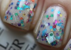 Lynnderella The Glittering Cloud layered with OPI Don't Touch My Tutu and China Glaze Fairy Dust