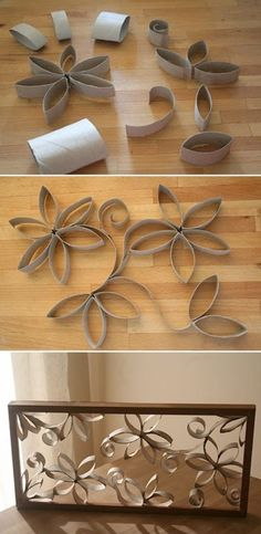 So cute to put in a little girls room. Maybe spray paint the flowers different colors before putting them in the frame.