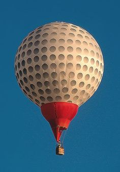 The flying golf ball hot air balloon