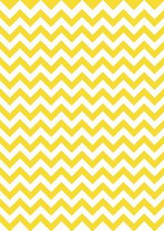 yellow chevron wallpaper - navy blue cabinets - seeded glass doors (white interior) - walnut butcher block countertops - parquet floor - white trim
