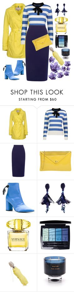 """RAINY DAYS"" by blackcatme ❤ liked on Polyvore featuring Invicta, YAL New York, Roland Mouret, Dibrera by Paolo Zanoli, Robert Clergerie, Oscar de la Renta, Versace, Christian Dior, Furla and Tom Dixon"