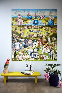 IXXI wall decoration made with the famous painting of Jheronimus Bosch, 'Garden of earthly delights'. Museo del Prado image bank collection. Price in this example is $191.20 (140 x 160 cm) #ixxi #ixxidesign