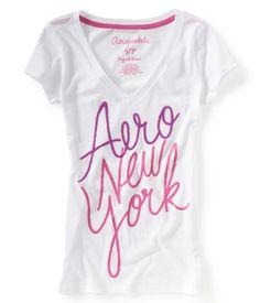b36358e0023 Aero New York V-Neck Graphic T Guys And Girls