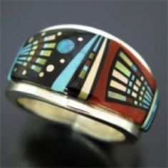 NATIVE AMERICAN Gold & Silver Feather Wedding Band Ring | Pinterest ...