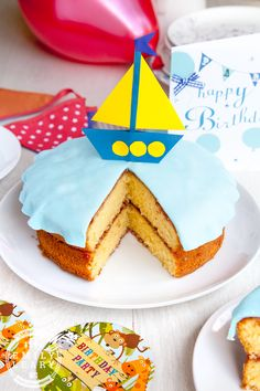 A sailing boat birthday cake (with a simple method to combat birthday baking stress!)