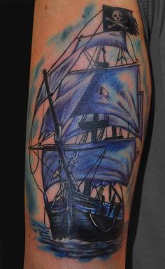 shipwreck tattoo ideas   Pirate Ship Tattoos