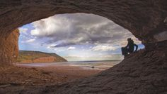 The Sandstone Caves of Blomidon Provincial Park Nova Scotia Canada. Beautiful Places To Visit, Places To See, Visit Nova Scotia, In The Beginning God, Go Hiking, American Country, Canada Travel, Natural Wonders, Wonders Of The World