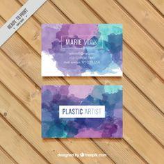 Acuarela tarjeta de empresa artística Vector Gratis