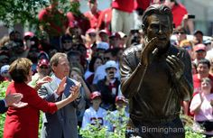 saban immortalized by statue