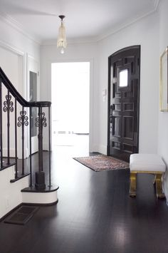 Iron stair rail and paint bannister and stairs the same color!!!!!!!!!!!!!!!!!!!!!!