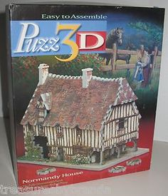 Wrebbit 3D jigsaw puzzle features Normandy House is called easy but recommended for individuals 12 years old and up... #3D #wrebbit #puzzles