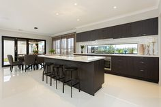 The Bellevue 309 Display @orbithomesgroup http://orbithomes.com.au/vic-homes/bellevue-309/ #weeklyhometrends #kitcheninspo #design #newhome #building #kitchen #orbithomes #contrast