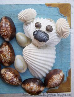 shell crafts | Cards ,Crafts ,Kids Projects: Shell Art and Craft- Altered Project