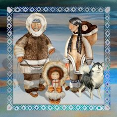 Esquimales Polo Norte, Body Art Photography, Inuit Art, Naive Art, World Cultures, Native American Indians, Book Illustration, Preschool Crafts, Arctic